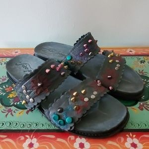 Embellished FP sandals